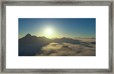 Islands In An Ocean Of Clouds Framed Print by Hakon Soreide