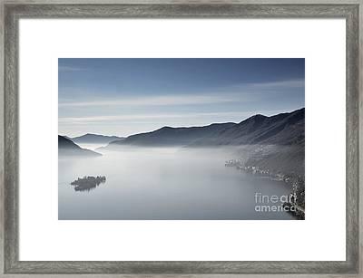 Islands On A Foggy Lake Framed Print
