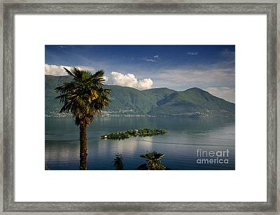Islands On An Alpine Lake Framed Print