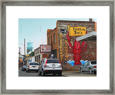 Isleton Joes Restaurant And Saloon In Isleton California Framed Print by Wingsdomain Art and Photography