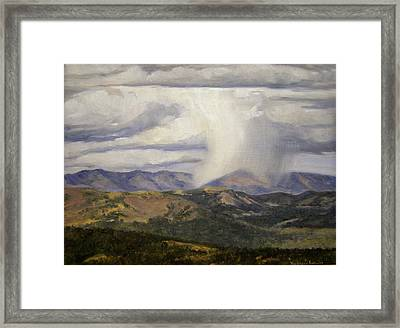 Isolated Showers Framed Print by Victoria  Broyles
