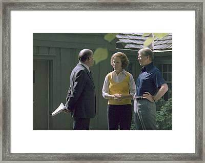 Israeli Prime Minister Menahem Begin Framed Print by Everett