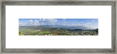 Israeli Valley Panorama Framed Print by Noam Armonn