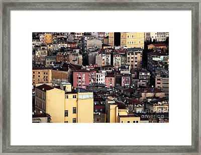 Istanbul Cityscape Vii Framed Print by John Rizzuto