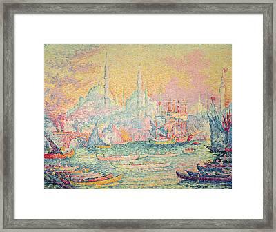 Istanbul Framed Print by Paul Signac