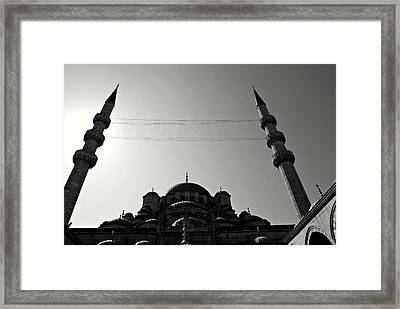 Istanbul's Yeni Camii Or New Mosque Framed Print by Dean Harte