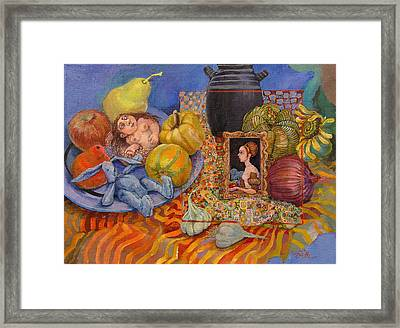 It All Began With The Squash Framed Print