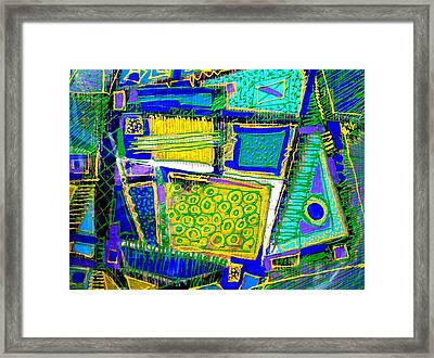 It Doesnt Matter How The Paint Is Put On As Long As Something Is Said Framed Print