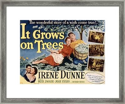 It Grows On Trees, Irene Dunne, Dean Framed Print