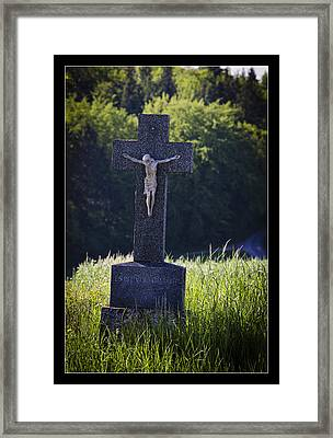It Is Accomplished Framed Print by Axko Color de paraiso