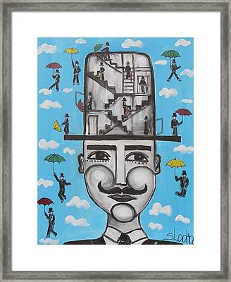 It Is Time For A New Hat Mister Framed Print by Sladjana Lazarevic