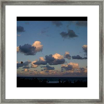 It Looked #fake Out There #yesterday Framed Print