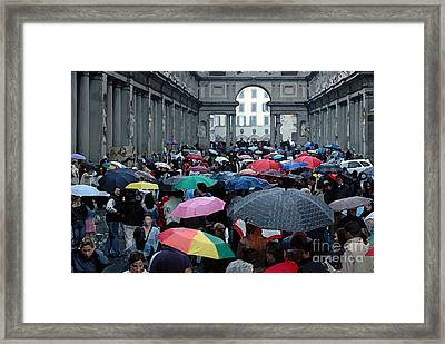 Framed Print featuring the photograph It Rains by Vivian Christopher