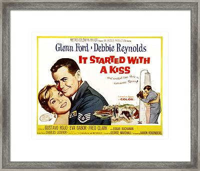 It Started With A Kiss, Glenn Ford Framed Print by Everett