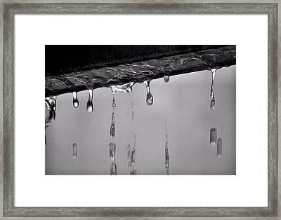 Framed Print featuring the photograph It Was A Dark And Stormy Night by Bob Wall