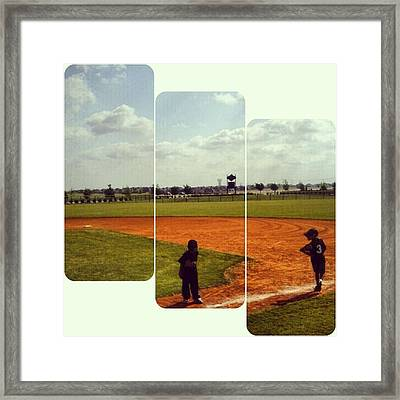 It Was A Great Day For Tball... #sports Framed Print by Kel Hill
