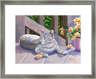 It Wasn't Me Framed Print by Marsha Elliott