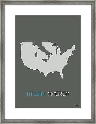 Italian America Poster Framed Print
