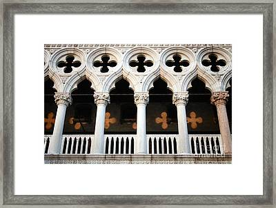 Italian Arches Framed Print by Linda Woods