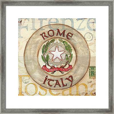 Italian Coat Of Arms Framed Print
