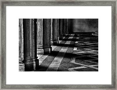 Italian Columns In Venice Framed Print by McDonald P. Mirabile