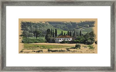 Italian Countryside Framed Print