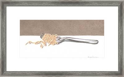 Italian Dinner Set 2 Of 2 Framed Print by Mandy Robertson