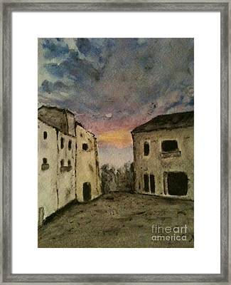 Italian Landscape Framed Print by Nicla Rossini