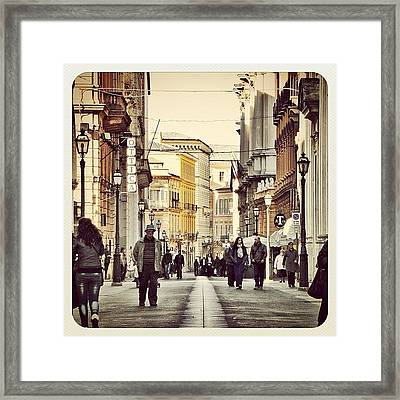 Italian Main Street Framed Print