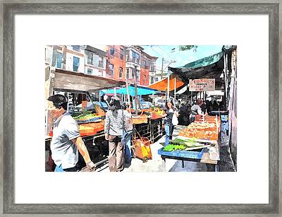 Italian Market Framed Print by Andrew Dinh
