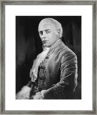 Italian Opera Singer Tito Schipa Framed Print by Everett
