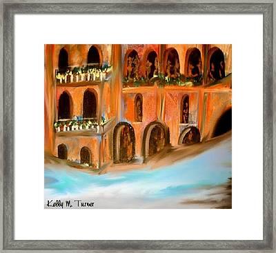 italian Palazzo Framed Print by Kelly Turner