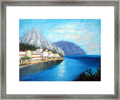 Framed Print featuring the painting Italian Panorama by Larry Cirigliano