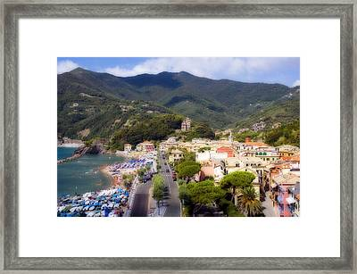 Framed Print featuring the photograph Italian Riviera by Rod Jones