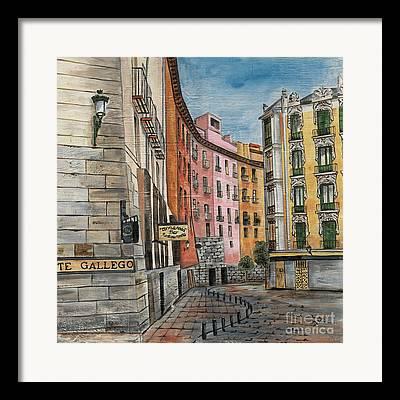 Italian Cafe Framed Prints