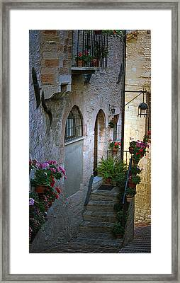 Italian Welcome Home Framed Print