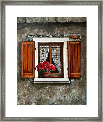 Italian Window Framed Print