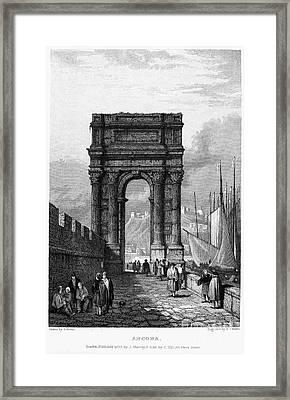 Italy: Ancona, 1833 Framed Print