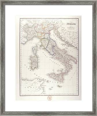 Italy Before Unification Framed Print by Fototeca Storica Nazionale
