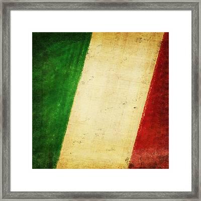 Italy Flag Framed Print by Setsiri Silapasuwanchai