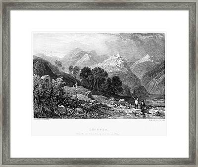 Italy: Licenza, 1833 Framed Print by Granger