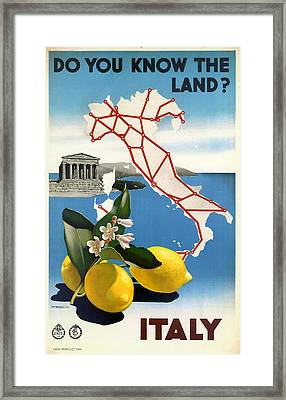 Italy Framed Print by Georgia Fowler