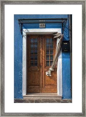 Italy Old Door Framed Print