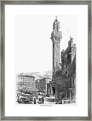 Italy: Siena, 19th Century Framed Print