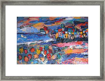 Italy With Flowers Framed Print