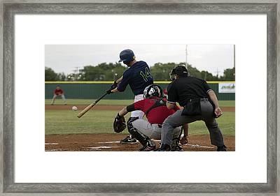 It's A Hit Framed Print by Bob Bailey