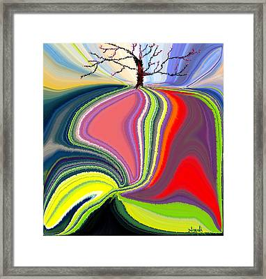 Its A Tree's Life Framed Print by Renate Nadi Wesley