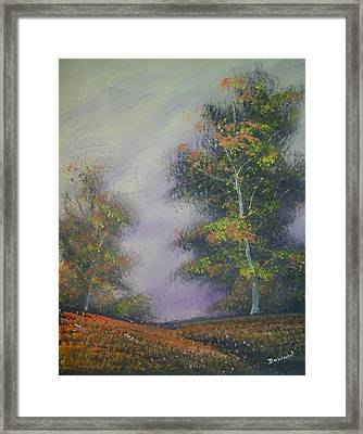 It's Fall Again Framed Print by Raymond Doward