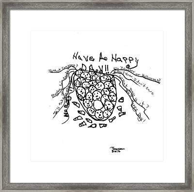 It's Happy Day Framed Print by Thelma Harcum