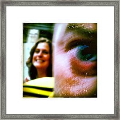 It's In The Eyes Framed Print
